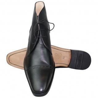 German Wear, Business Stiefeletten Lederschuhe mit Ledersohle Schuhe schwarz