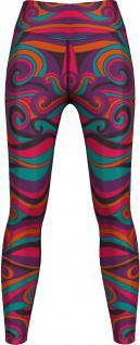 Batik Leggings sehr dehnbar für Sport, Gymnastik, Training, Tanzen & Freizeit lila/pink/orange