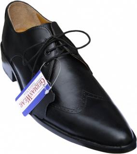 German Wear, Business-schuhe Derby Halbschuhe Lederschuhe mit Ledersohle Schuhe schwarz