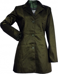 German Wear, Damen mantel Trenchcoat aus Baumwolle Oliv