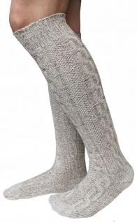 LANGE Trachtensocken Trachtenstrümpfe Zopf Socken 70cm Meliert - Vorschau 2