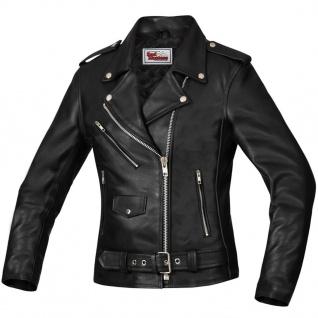 Damen Lederjacke Motorradjacke Rockerjacke Chopper Brando Jacke