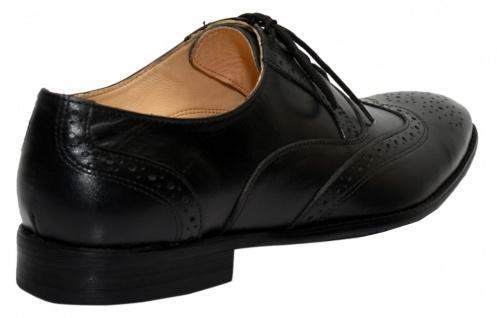 Business-schuhe Oxford Brogues Lederschuhe Schuhe Schwarz - Vorschau 5