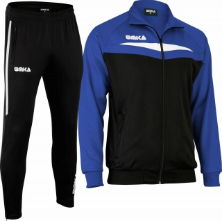 OMKA Trainingsanzug Sportanzug Jogginganzug Freizeitanzug Blau
