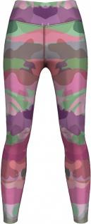 Rosa Camo Leggings sehr dehnbar für Sport, Yoga, Gymnastik, Training, Tanzen & Freizeit pink/lila/grün