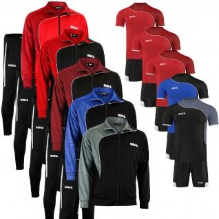 4er Set Trainingsanzug + Trikotsatz, Jacke + Jogginhose + Trikot + Hose, Sportanzug Jogginganzug Freizeitanzug