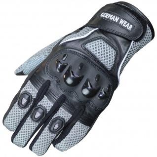Motocross Motorradhandschuhe Biker Handschuhe Textilhandschuhe Grau - Vorschau 1