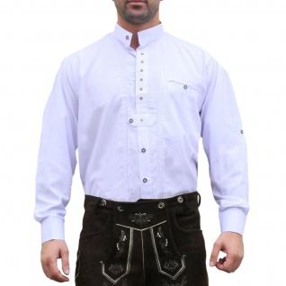 Trachtenhemd Hemd aus 100% Baumwolle Edelweiß bestickt - Vorschau 1