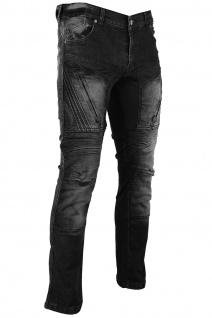 BULLDT Herren Kevlar Motorradjeans Motorradhose Denim Jeans Hose mit Protektoren Schwarz - Vorschau 2