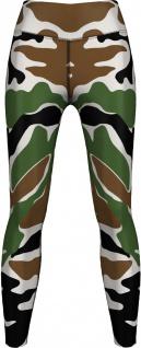 Grün Braun Camo Leggings sehr dehnbar für Sport, Gymnastik, Training, Tanzen & Freizeit Weiß/Braun/Grün