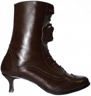 Damen Trachtenstiefel budapester echtleder Trachten Schuhe für Dirndl & Lederhosen