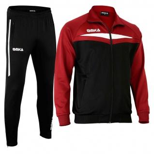 OMKA Trainingsanzug Sportanzug Jogginganzug Freizeitanzug Weinrot