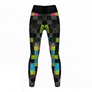 Neo Pixels Leggings sehr dehnbar Fitness Sport Yoga Gymnastik Training Tanzen Freizeit