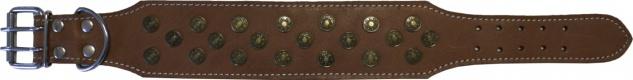 Hundehalsband aus echtem Leder 45-54cm in braun
