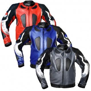 Lederjacke Motorradjacke Kombijacke aus Rindsleder - Vorschau 4