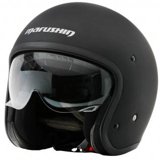 Marushin C-149 Motorrad Helm Jethelm Premium Line Halbschalenhelm - Vorschau 2