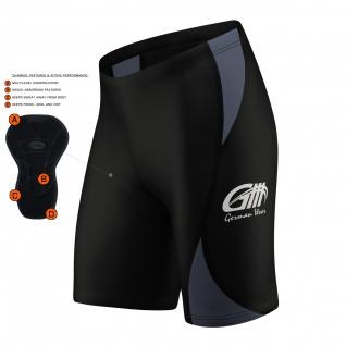 Radhose Fahrradhose Radlerhose Gepolsterte Coolmax Radler-Shorts - Vorschau 2