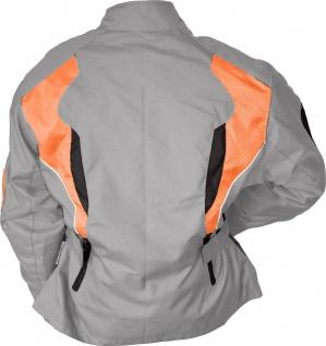 Damen Motorradjacke Textilienjacke Grau Orange - Vorschau 4