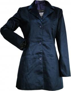 German Wear, Damen mantel Trenchcoat aus Baumwolle Dunkelblau