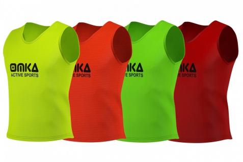 6 Stück OMKA Fußball Leibchen Trainingsleibchen Markierungshemd Fußballleibchen Trikots