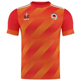 OMKA Fussballtrikot WM 2018 Fan Trikot Fußball-Weltmeisterschaft Deutschland, Orange