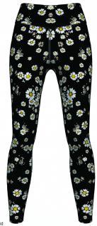 Daisy Floral Leggings sehr dehnbar für Sport, Gymnastik, Training, Tanzen & Freizeit