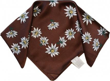 Halstuch Trachtentuch Polyester Edelweiss-muster nikituch 50x50cm 11x Farbtöne - Vorschau 3