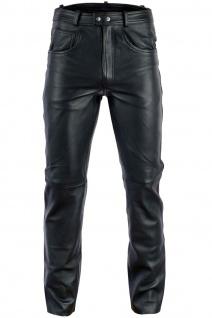 BULLDT Lederhose lederjeans bikerjeans Reitlederhose 5 Pocket jeans hose aus Anilinleder Naturleder
