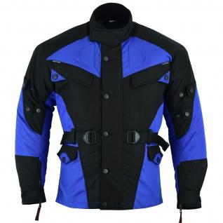 Motorradjacke Cordura Textilien Blau/Schwarz