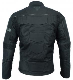 Motorradjacke Cordura Textilien kurze Jacke Schwarz - Vorschau 4