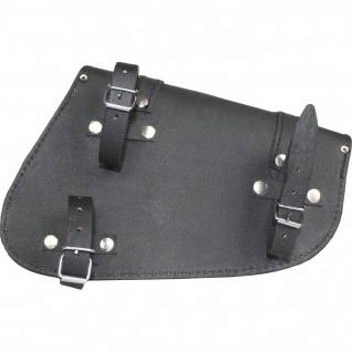 Motorrad Satteltasche Solobag Solo Tasche saddlebag Motorradtasche Werkzeugtasche aus Leder - Vorschau 2