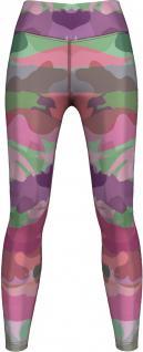 Rosa Camo Leggings sehr dehnbar für Sport, Gymnastik, Training, Tanzen & Freizeit pink/lila/grün