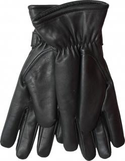 German Wear, Damen Lammnappa Lederhandschuhe Handschuhe echtleder Lamm-Nappaleder schwarz