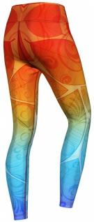 Orange & Blue Ombre Leggings sehr dehnbar für Sport, Yoga, Gymnastik, Training, Tanzen & Freizeit - Vorschau 3