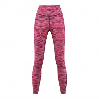 GermanWear Leggings Fitness Sport Gymnastik Training Tanzen Freizeit Rosa\schwarz melange