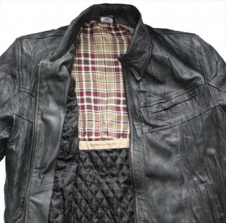 German Wear, Lederjacke Lamm Nappa echtleder Jacke Leder, modischer Knitterlook, schwarz - Vorschau 4