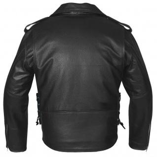 Lederjacke Motorradjacke Rockabilly Rockerjacke Chopper Brando jacke - Vorschau 5