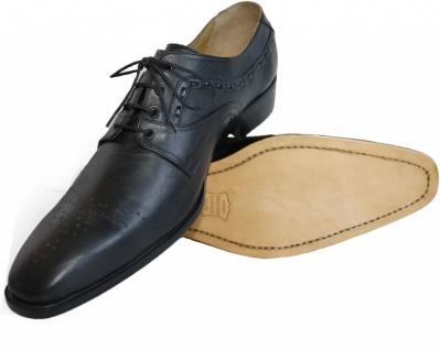 German Wear, Business-schuhe Halbschuhe Lederschuhe mit Ledersohle Schuhe schwarz