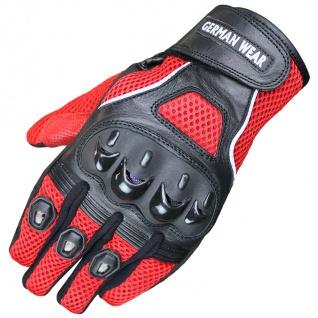RadMasters, Motocross Motorradhandschuhe Biker Handschuhe Textilhandschuhe Rot