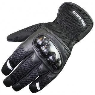 RadMasters, Motorradhandschuhe Biker Handschuhe Textilhandschuhe Schwarz - Vorschau 1