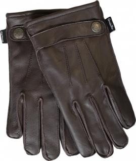 Herren Lederhandschuhe Handschuhe Lammnappa echtleder Lamm-Nappaleder dunkelbraun