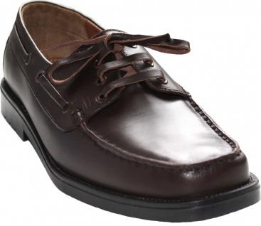 Bootsschuhe Segelschuhe Halbschuhe aus echtleder Rindsleder Schuhe dunkelbraun