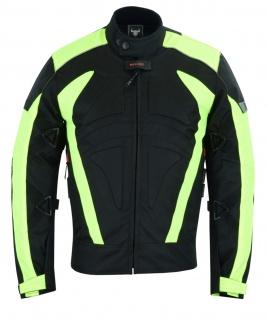 Motorradkombi Textilien motorradjacke + Motorradhose Schwarz, Grün & Orange inkl. alle Protektoren - Vorschau 3
