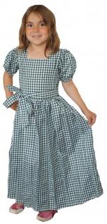 Mädchen Kinder Dirndl Mädchendirndl Kleid Grün/weiß kariert