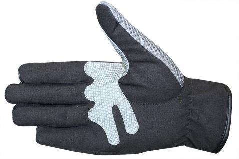 Motocross Motorradhandschuhe Biker Handschuhe Textilhandschuhe Grau - Vorschau 3