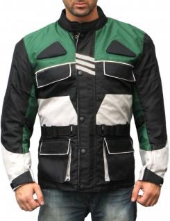 Textilien Jacke Motorradjacke Kombigeeignet Schwarz/Grün
