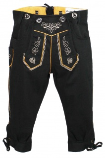German Wear, Jungen Kniebundhosen kinder Hose Jeans Hose kostüme mit Hosenträgern Schwarz