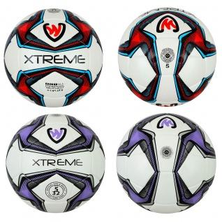 GermanWear Xtreme Fußball Größe 5 PU 1, 8mm Match Ball Turnierball - Vorschau 1