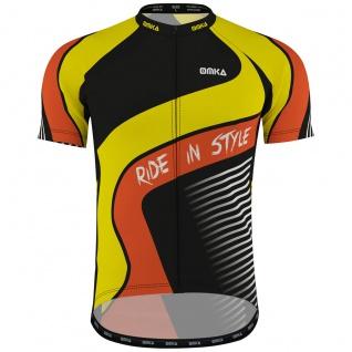 OMKA Herren Radtrikot Fahrrad Radler-Trikot Racing Performance Shirt mit Sublimationsdruck