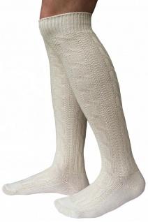 LANGE Trachtensocken Trachten Strümpfe für lederhosen Socken 70cm Natur